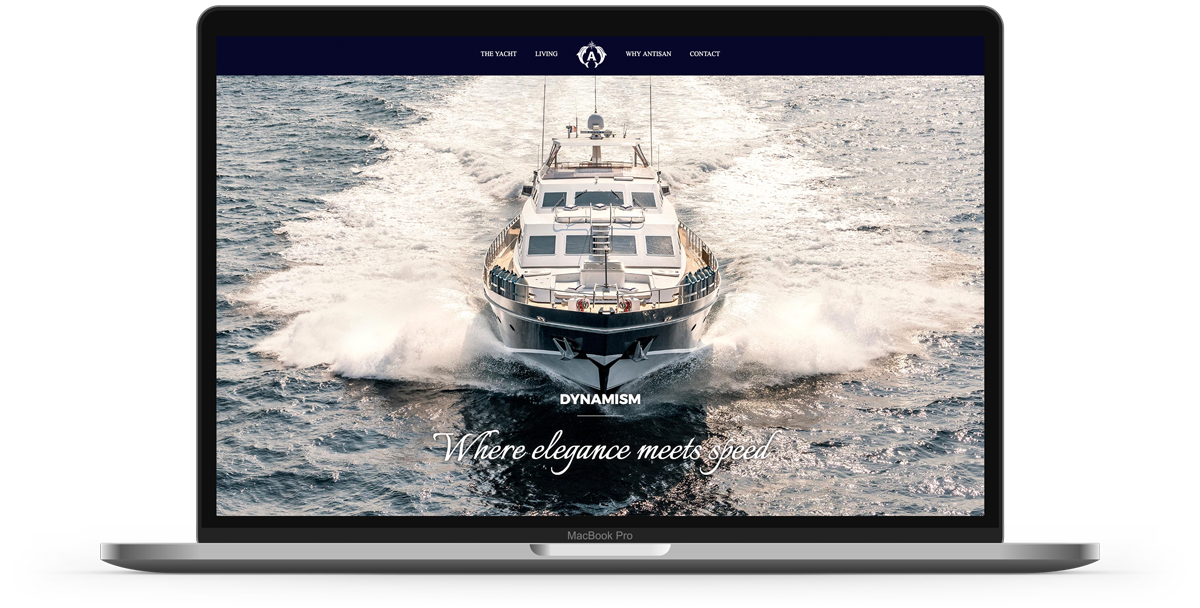 Antisan super yacht web design