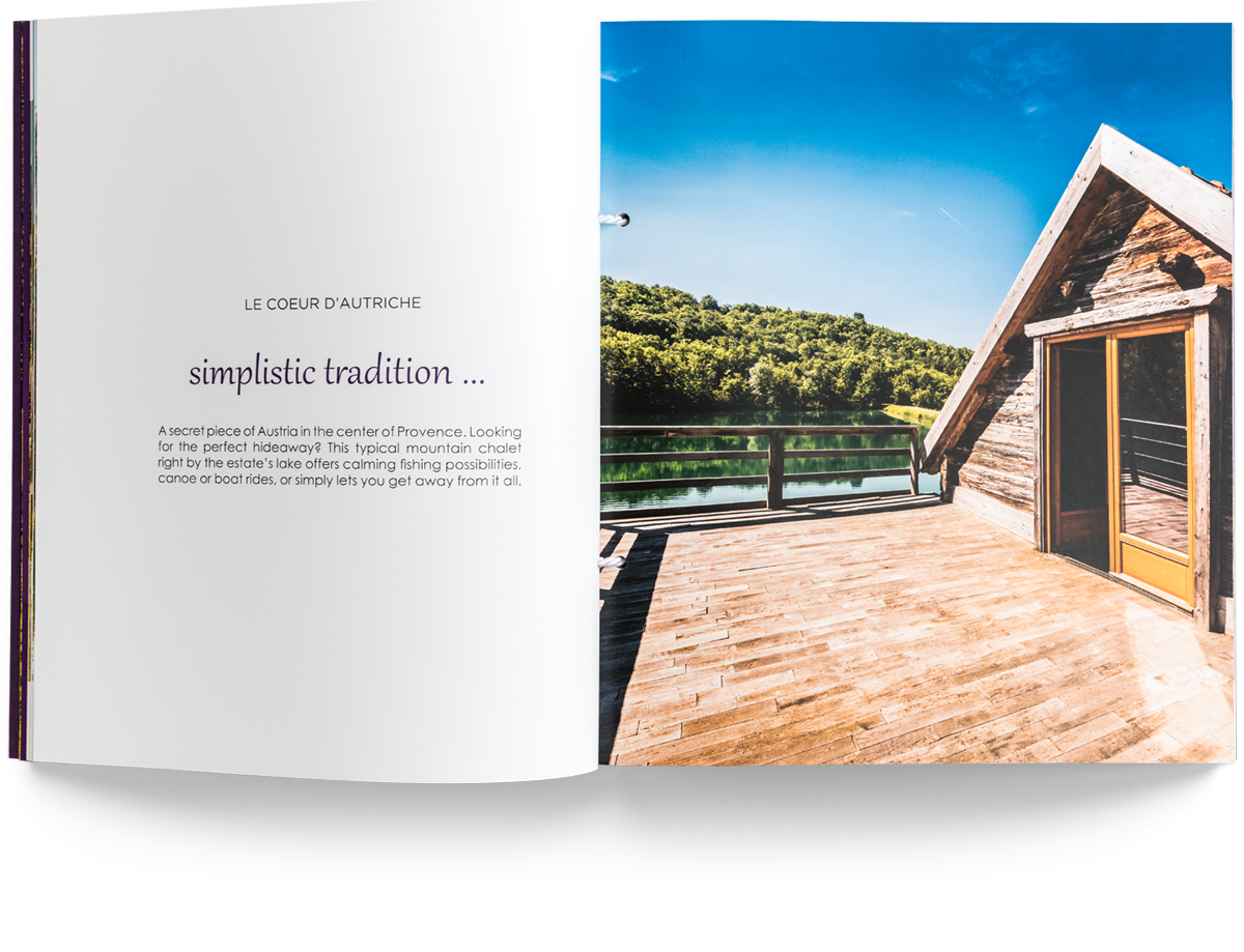 Domaine de Mauroue book and print design
