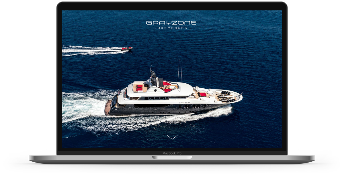 Grayzone super yacht web design