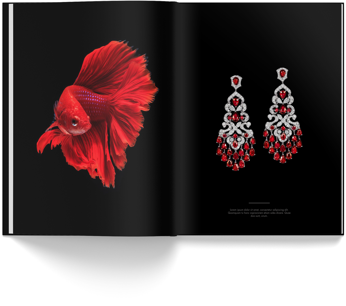 Print design of the official Orlov Jewelry book