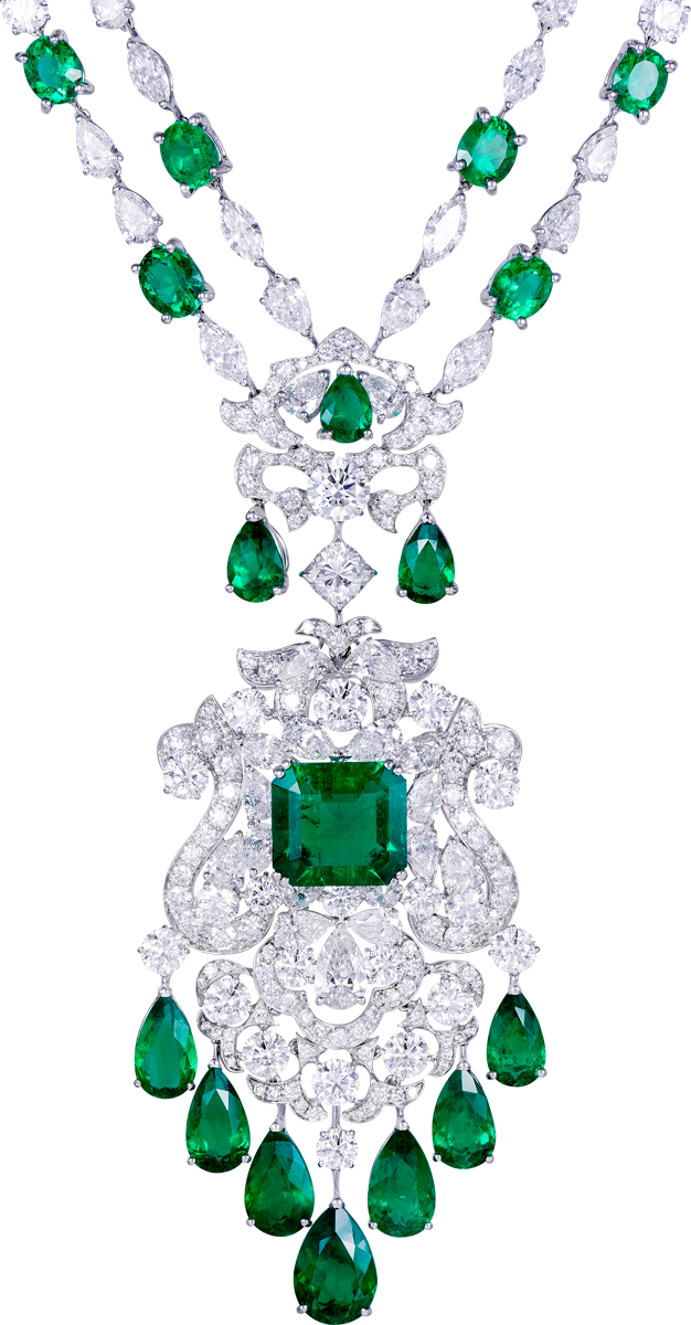 Colombian emerald and diamond necklace by Orlov Jewelry