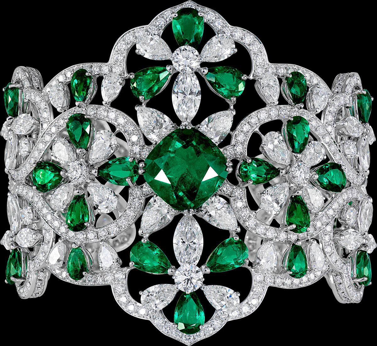 Colombian emerald and diamond bracelet by Orlov Jewelry