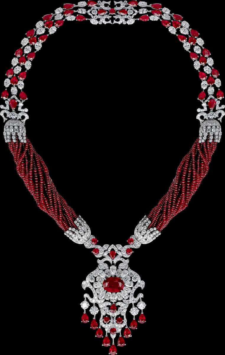 Burmese ruby and diamond necklace by Orlov Jewelry