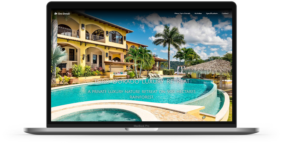 Web design for toro dorado luxury property