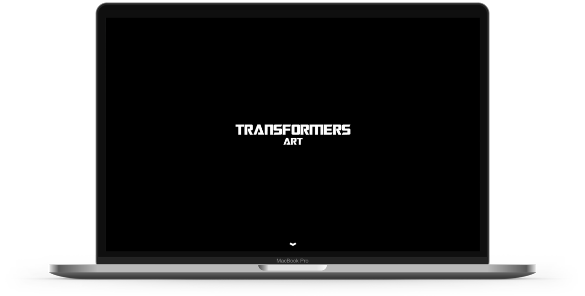 Web design for Transformers Art